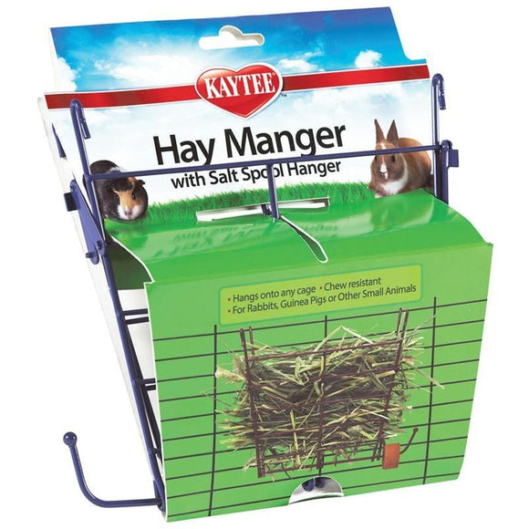 KAYTEE HAY MANGER FEEDER WITH SALT HANGER