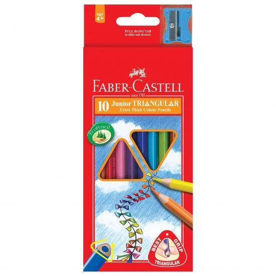 Faber-Castell 10 Triangular Coloring Pencils