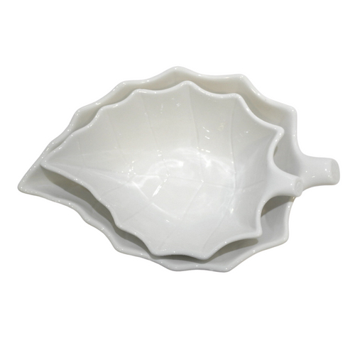 Porcelain Leaf Shaped Bowl - Akil Bros