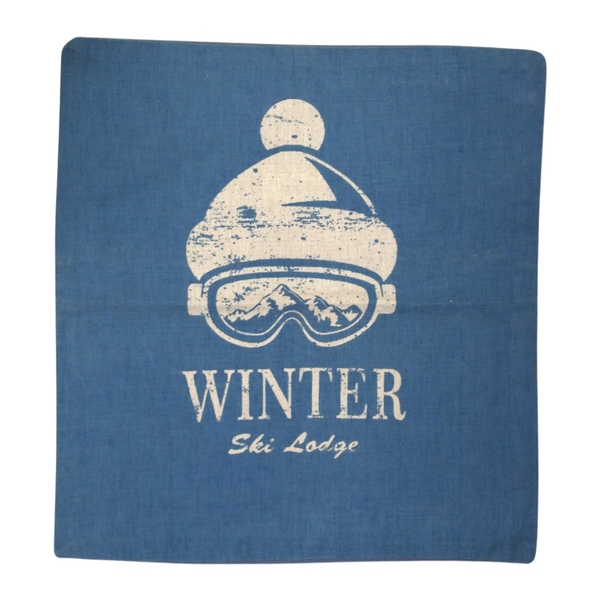 Winter Blue Pillow Cover