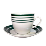 Lined Tea Cups w/ Saucer (Set of 6)