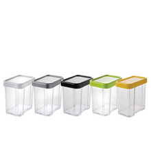 Load image into Gallery viewer, Gab Plastic Rectangular Canister – 800ml