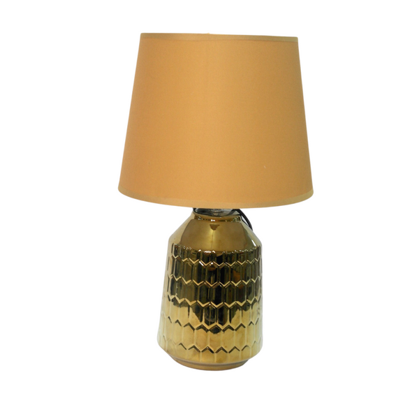 Gold Textured Table Lamp