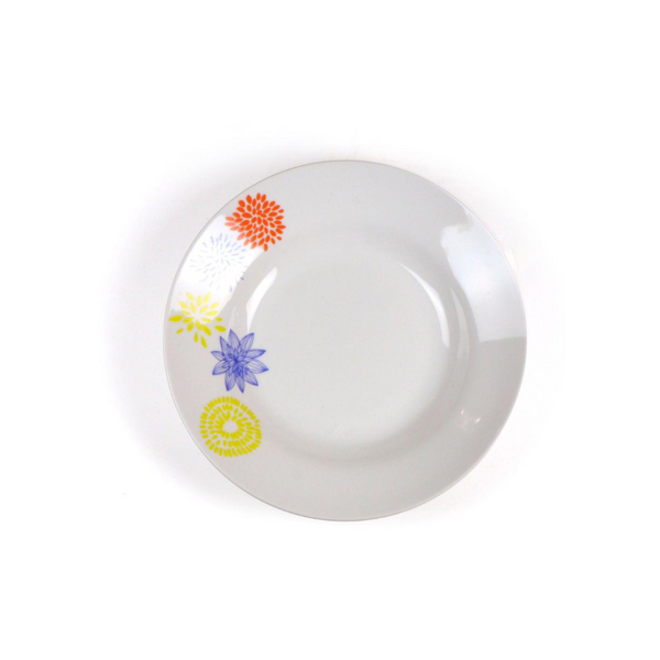 Colorful Flower Print Dinner Plates
