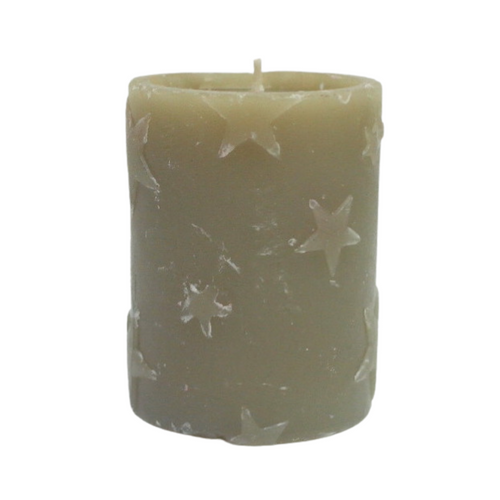 Taupe Star Candle - Akil Bros