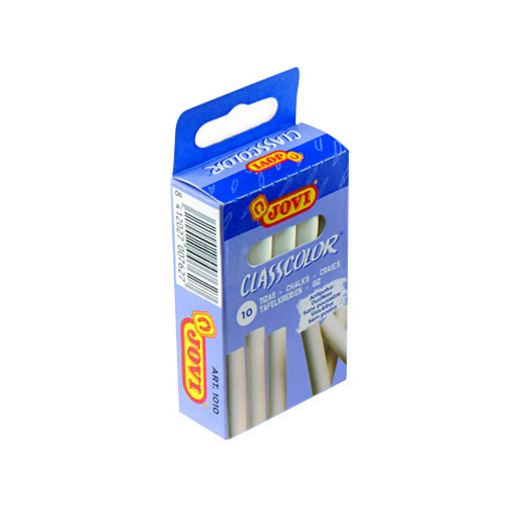 JOVI White Chalk - Pack of 10 - Akil Bros