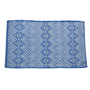 Small Blue Woven Rug - Akil Bros