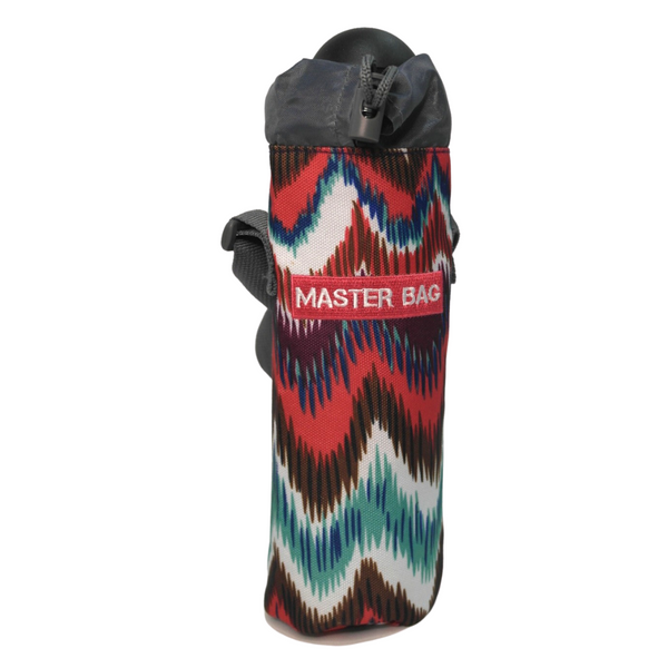 Master Bag Red Patterned Water Bottle