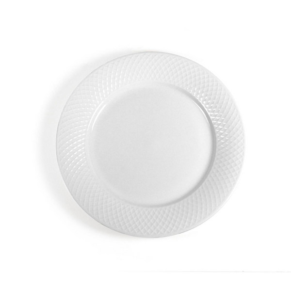 Diamond Porcelain Dinner Plates