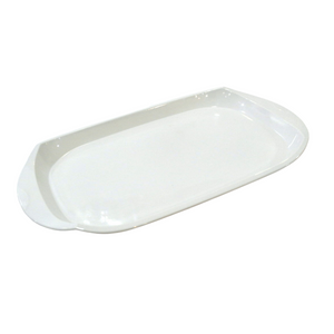 Plain White Rectangular Tray - Akil Bros