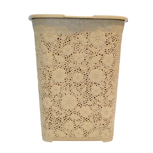 Lace Beige Laundry Basket - Akil Bros