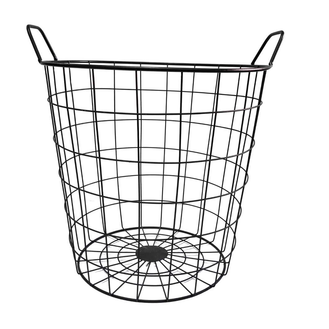 Black Metal Basket - 36 x 40 cm - Akil Bros