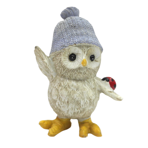Small Winter Owl Figurine