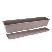 Load image into Gallery viewer, Gab Plastic Rectangular Flower Planters with Tray - 80cm