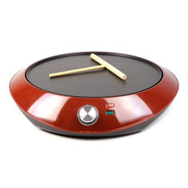 Electric Crepe Maker with a Spatula