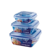 Square Plastic Food Containers with Lock Lid