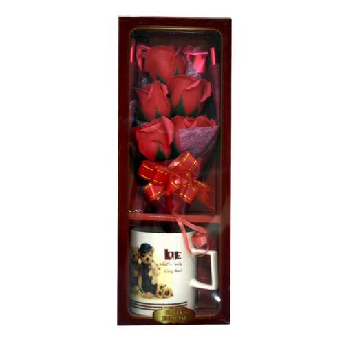 Valentines Mug and Red Roses - Akil Bros