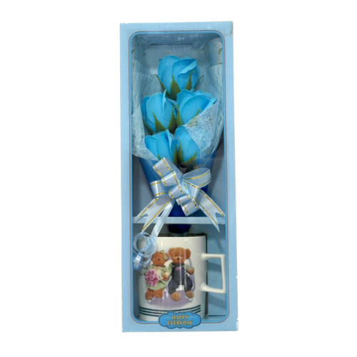 Valentines Mug and Blue Roses - Akil Bros