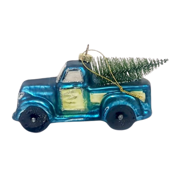 Blue Truck Christmas Bauble