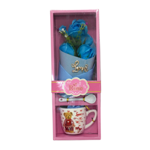 Valentines Love Mug and Bouquet - Akil Bros