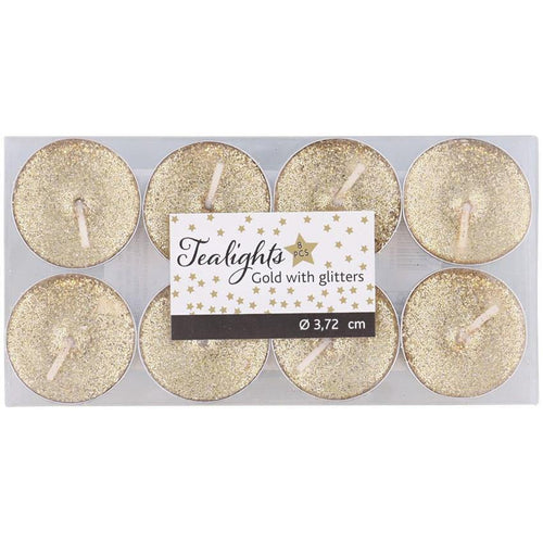 Glitter Mini Candles - Pack of 8 - Akil Bros