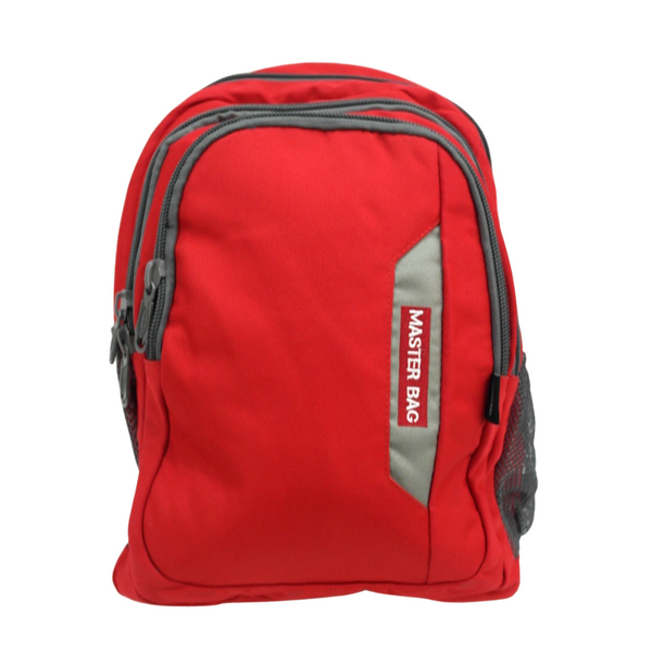 Master Bag Red and Grey Backpack