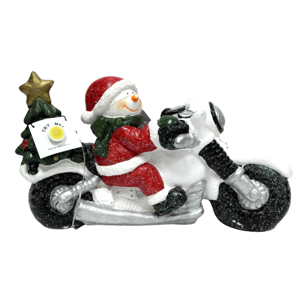 Motorcycle Santa w/ LED and Music - 45 x 18 x 26 cm