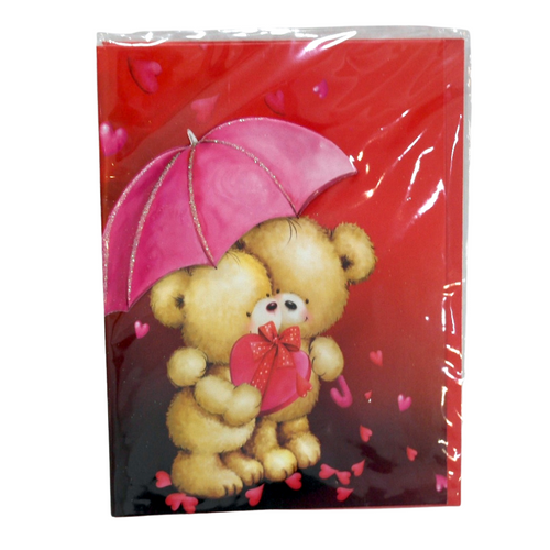 Valentines Teddy Bear Card - Akil Bros