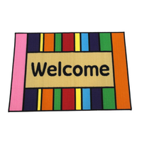 Colorful Welcome Rug
