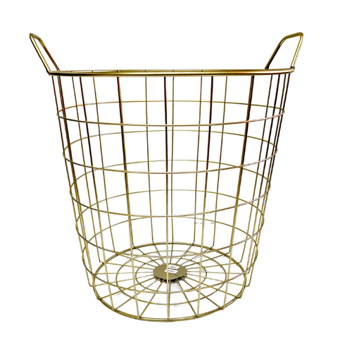 Gold Metal Basket - 36 x 40 cm - Akil Bros