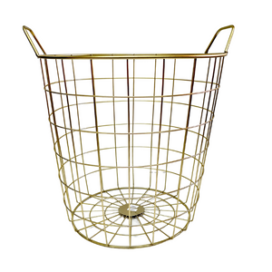 Gold Metal Basket - 31 x 35 cm