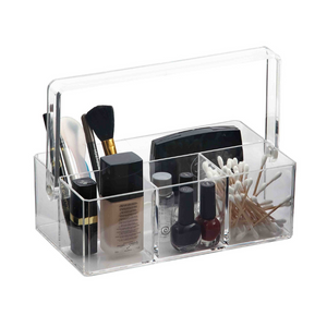 Acrylic Cosmetic Organizer with Handle - Akil Bros