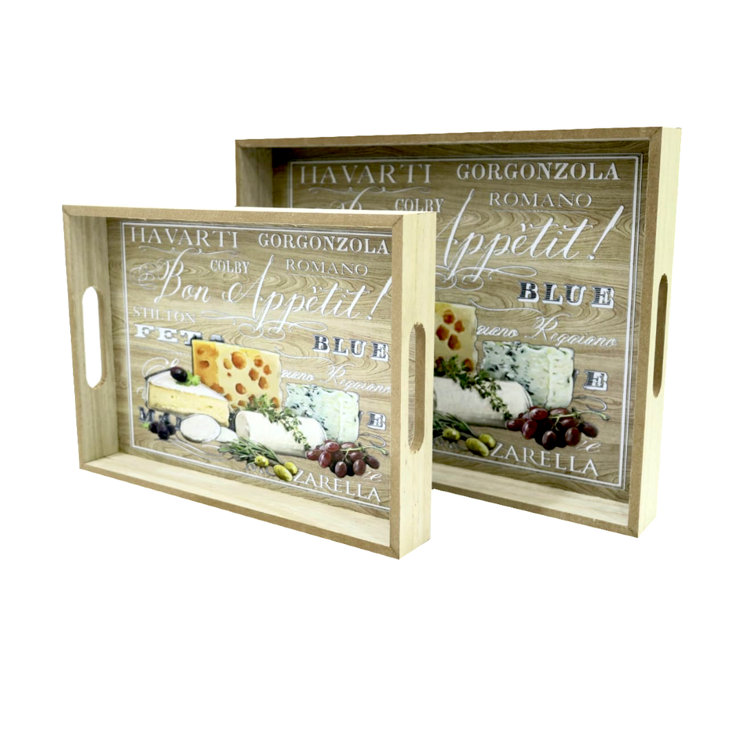 Cheese Board Wooden Trays (Set of 2) - Akil Bros