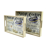 Sugar Cookies Wooden Trays (Set of 2)