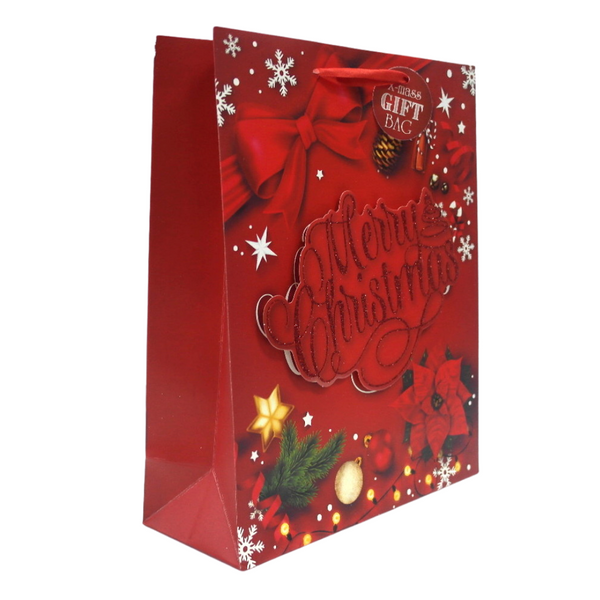 Merry Christmas Red Gift Bag