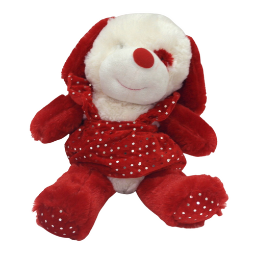 Red Animal Plush in a Dress - Akil Bros