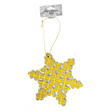Load image into Gallery viewer, Glittery Snowflake Decorative Hangers