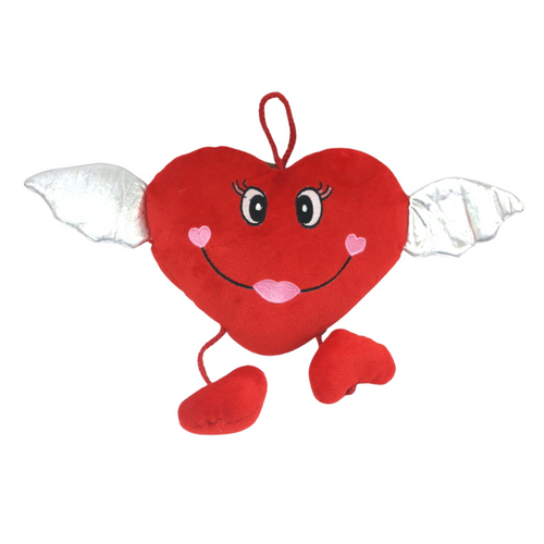 Hanging Angel Heart Plush - Akil Bros