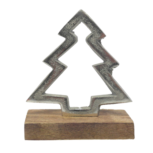 Metal Tree w/ Wooden Base