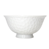 Porcelain Small Honeycomb Bowl  w/ Base