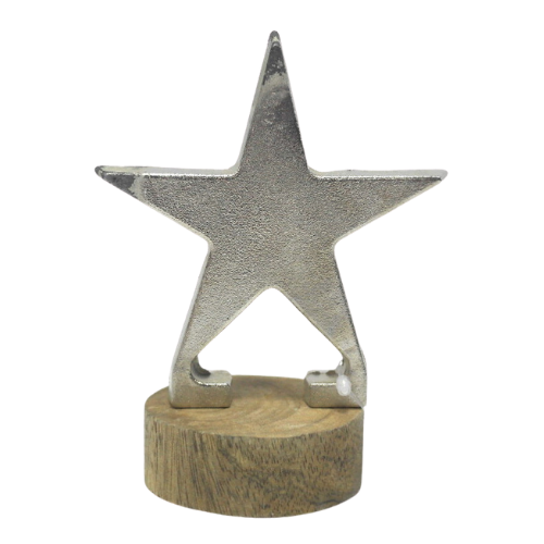 Silver Star w/ Wooden Base