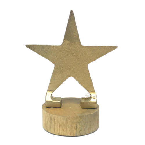 Gold Star w/ Wooden Base