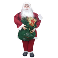 Life-Size Santa with Gift