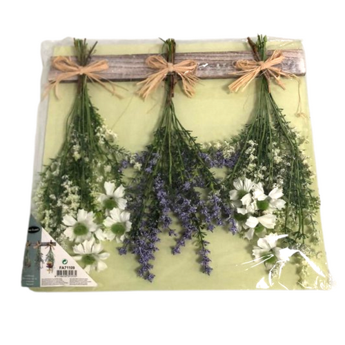 Artificial Flowers on Wooden Hanger - Akil Bros