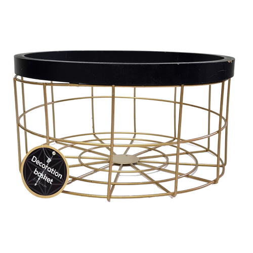 Gold & Black Metal Basket - Akil Bros
