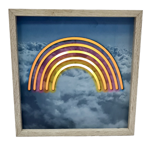 Wooden LED Lightbox - 20 cm