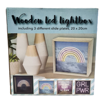 Load image into Gallery viewer, Wooden LED Lightbox - 20 cm
