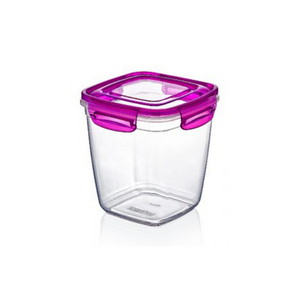 Dunya Airtight Plastic Food Container w/ Colored Lid - 575ml