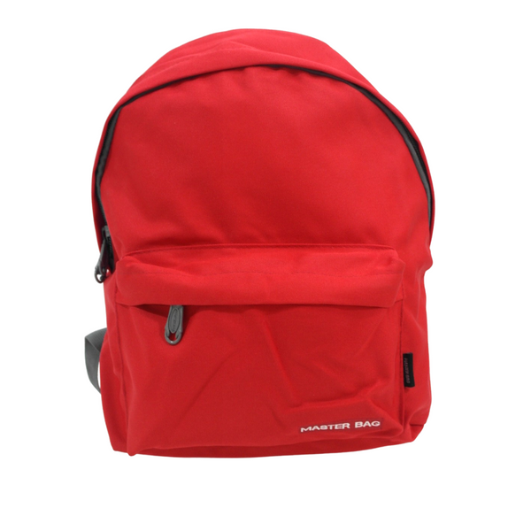 Master Bag Plain Red Backpack