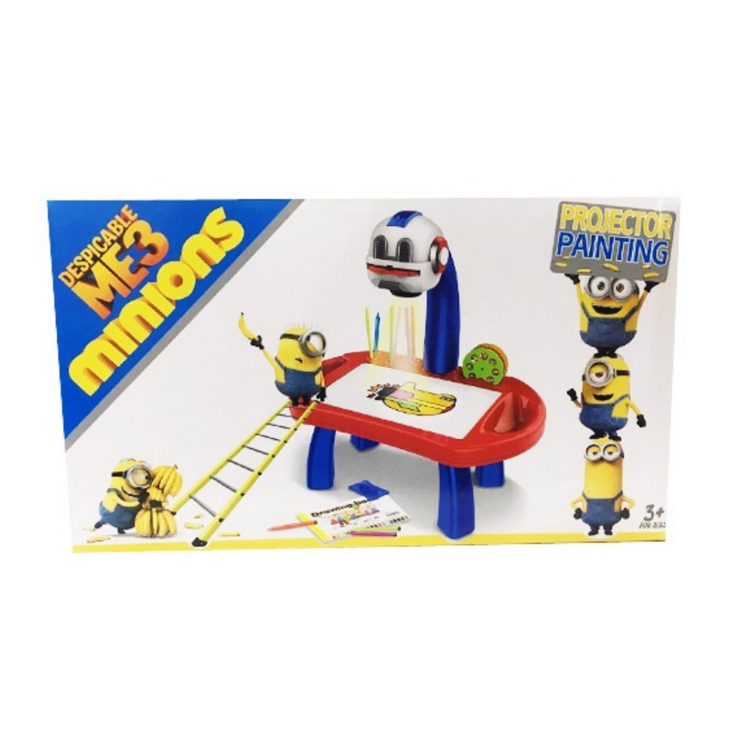 Despicable Me 3 Minions Table Lamp Projection Drawing Machine - Akil Bros